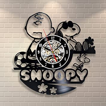 wall clock for office. Snoopy Vintage Office Decor Vinyl Record Wall Clock Wedding For