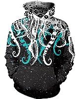 VENI MASEE Unisex 3D Digital Druck Casual Pullover Hoodie Sweatshirt für Liebhaber(M-2XL)