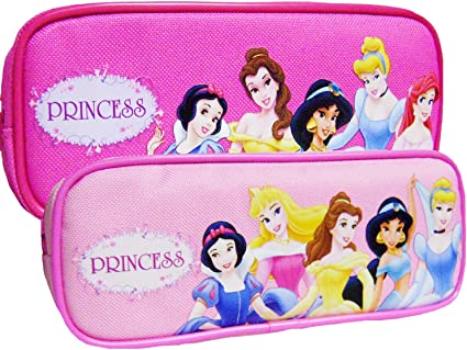 Princesas Disney estuche cremallera doble rosa 2 unidades – rosa y rosa: Amazon.es: Oficina y papelería