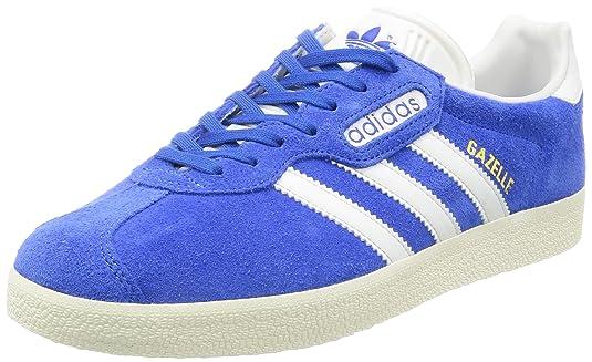 adidas Gazelle Super, Baskets Basses Homme, Bleu (Blue/Vintage White/Gold Metallic), 47 1/3 EU: Amazon.fr: Chaussures et Sacs