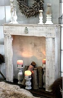 Kaminkonsole Dekokamin Kaminsims Aus Holz In Antik Weiß Fertig Montiert