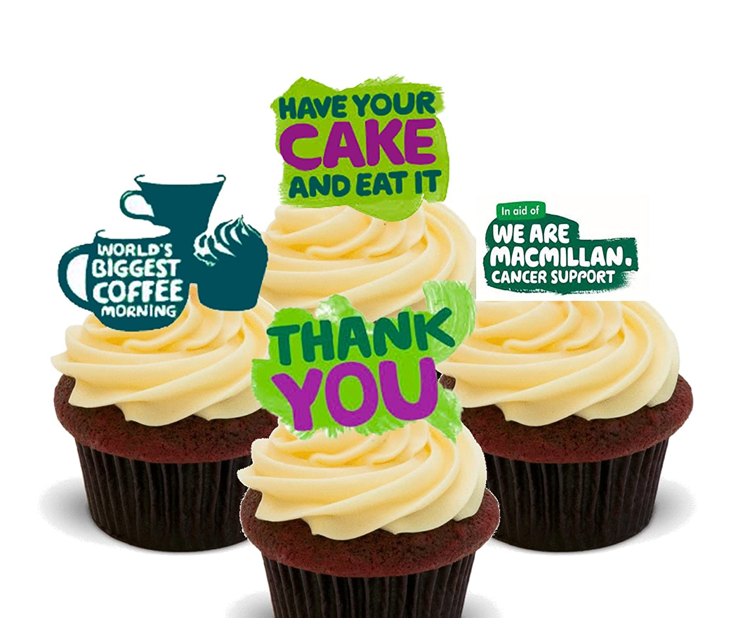 Macmillan World\'s Biggest Coffee Morning - Edible Cupcake Toppers ...