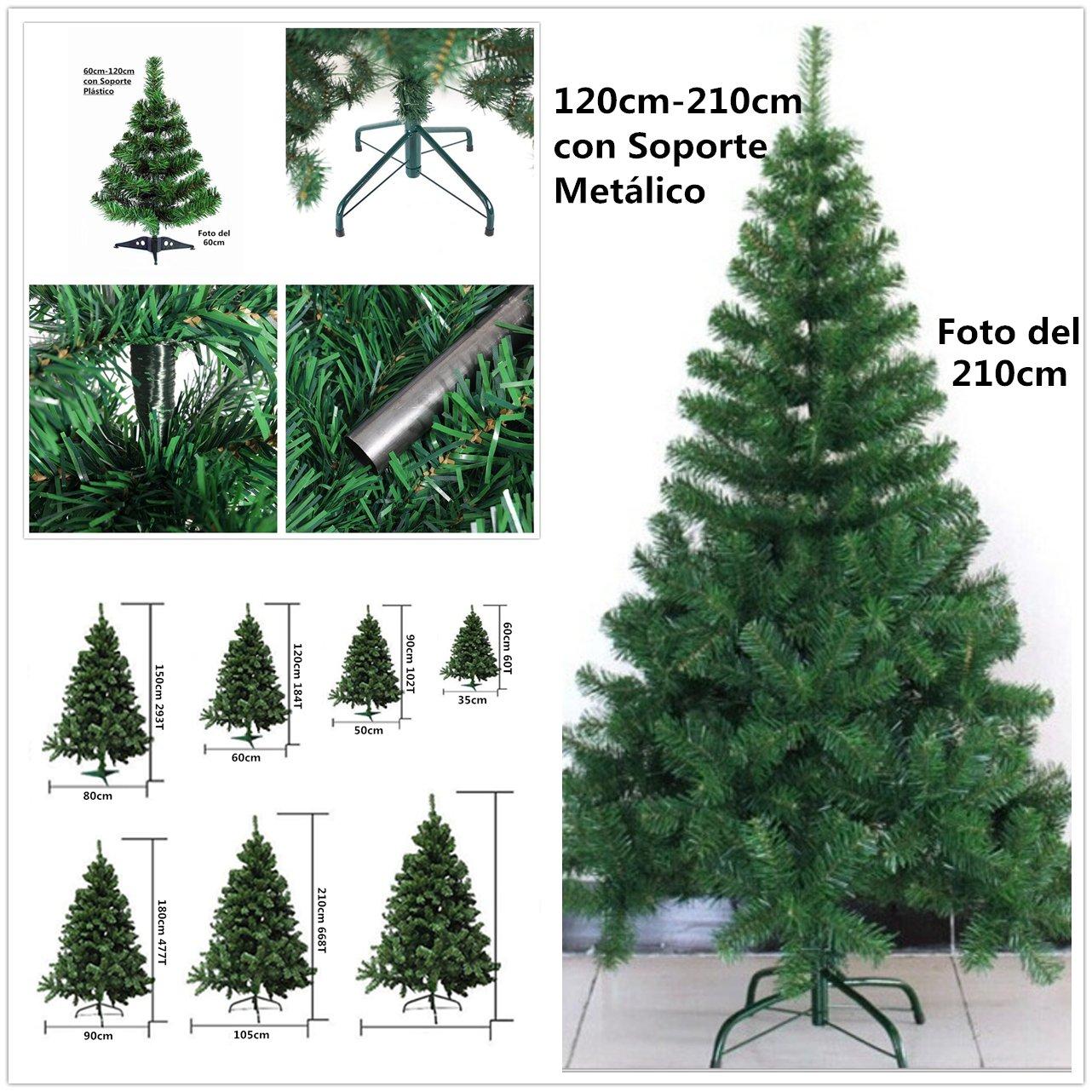 Árbol de Navidad artificial verde