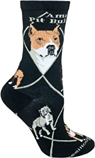 product image for Wheel House Designs American Pit Bull Women's Argyle Socks (Shoe size 6-8.5)