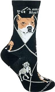 product image for Wheel House Designs American Pit Bull Women's Argyle Socks (Shoe size 6-8.5)