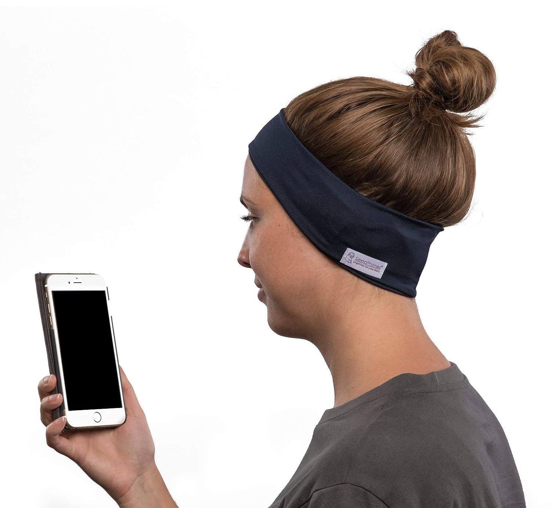 AcousticSheep SleepPhones Wireless   Bluetooth Headphones for Sleep, Travel, and More   The Original and Most Comfortable Headphones for Sleeping   Galaxy Blue - Breeze Fabric (Size S)