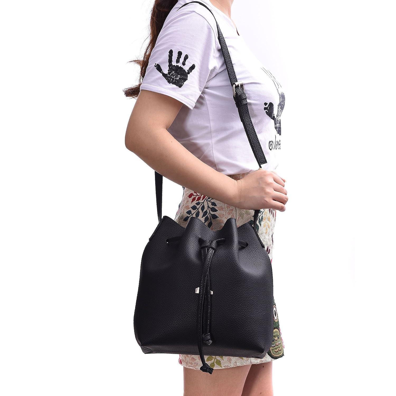 Drawstring Bucket Bags 2 Pieces Set, Artmis Women Small Cross-body Purses  PU Leather b6a2997fa1