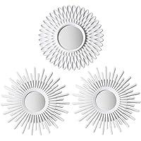 BONNYCO Espejos Pared Decorativos Blancos Pack 3 Espejos Decorativos Ideales para Decoracion Casa, Habitación y Salón…
