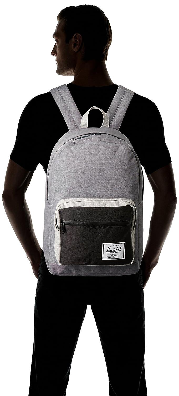 Herschel Pop Quiz Backpack Mid Grey Crosshatch//Black One Size Herschel Luggage child code 10011-02213-OS