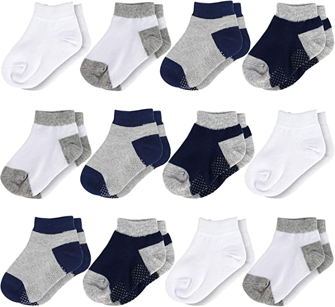 Simple Joys By Carter/'s Baby /& Toddler Unisex 12Pk Ankle Socks