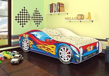 Kinderbett auto blau  Best For Kids Autobett Kinderbett Bett Auto Car Junior in vier ...