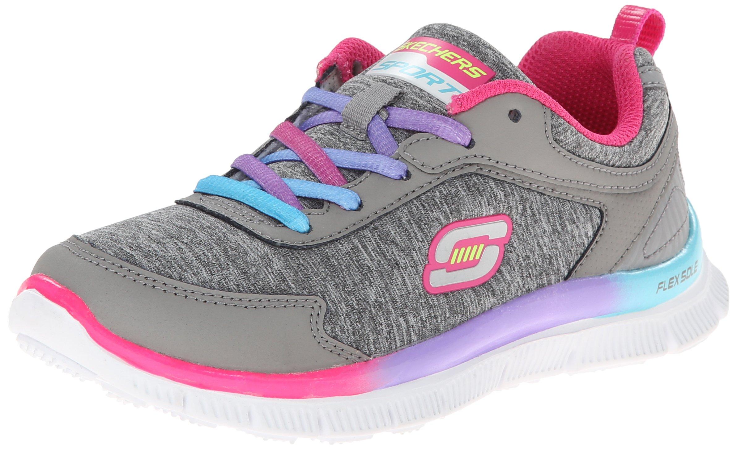 Skechers Kids 81885L Skech Sneaker,Gray/Pink/Purple,3 M US Little Kid