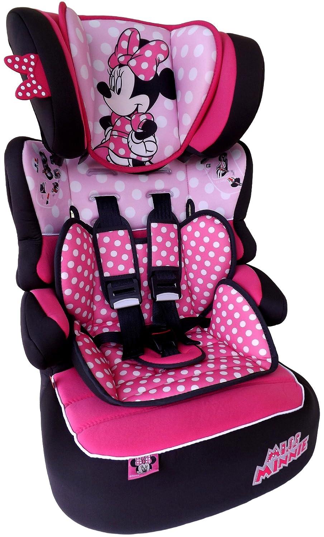 MISS MINNIE Dots Disney Beline LX Kindersitz KINDER AUTOSITZ BABY SITZ GRUPPE 1/2/3 9-36kg+GRATIS STICKER& mini Haribo Goldbären Nania