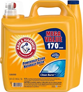 Arm & Hammer Clean Burst Liquid Laundry Detergent, 170 Loads