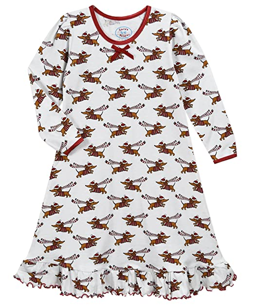 Sara s Prints Girls  Little Whirl and Twirl Long Sleeve Nightgown 03376a7ee