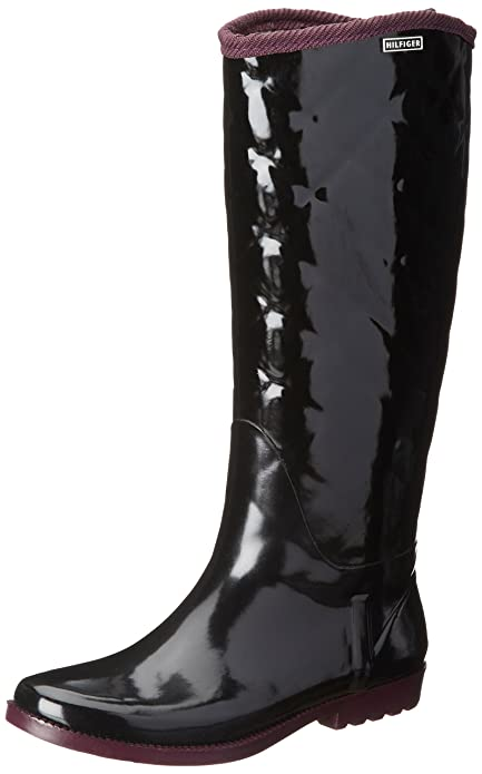 Vintage Style Boots Tommy Hilfiger Womens Vintage Rain Boot $59.17 AT vintagedancer.com