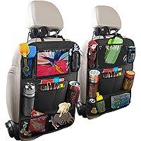 HOME-MART 2 Pack Car Organisers with 7 Storage Pockets,Car Back Seat Organiser,Car Tablet Holder,Waterproof Backseat…