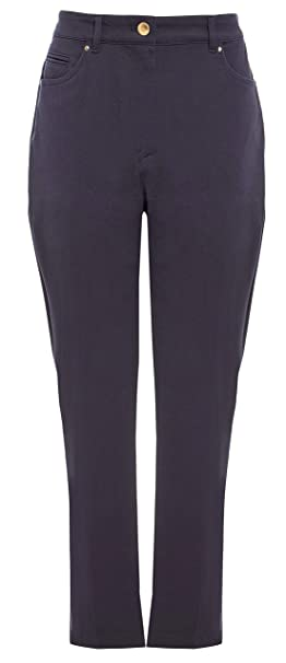 New Womens Marks /& Spencer Classic Grey /& White Straight Trousers 20 10 Regular