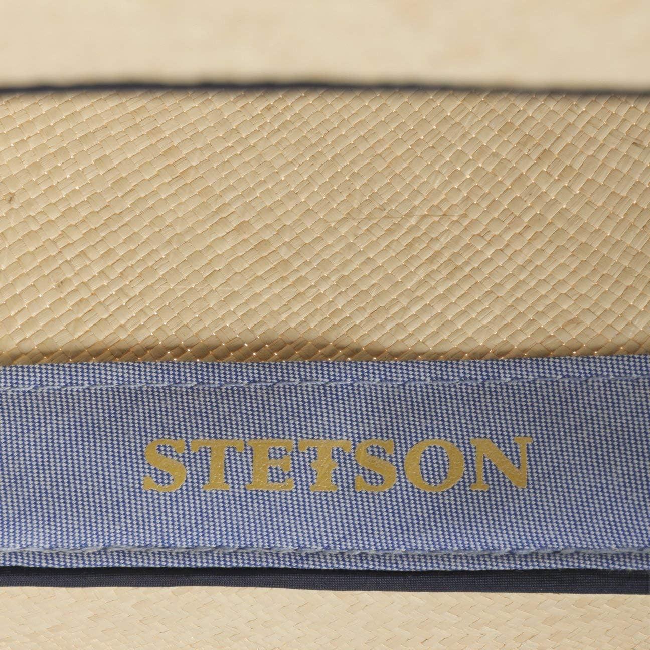 Stetson Chapeau Panama Durmand Fedora Homme Grain Printemps-ete Made in Ecuador de Soleil DEte en Paille avec Ruban Gros Grain