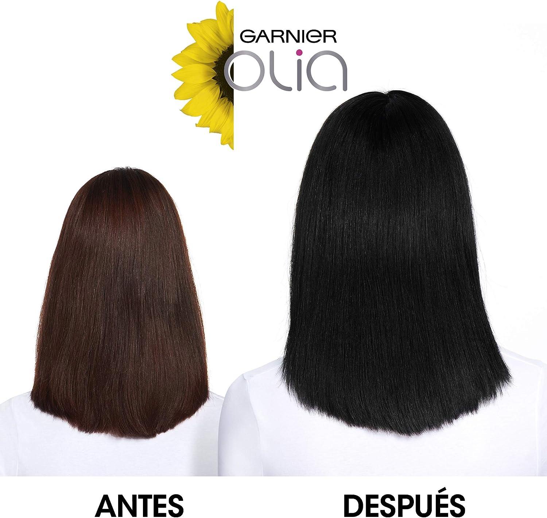 Garnier Olia - Coloración Permanente sin Amoniaco, con Aceites Florales de Origen Natural - Tono Negro Diamante 2.0