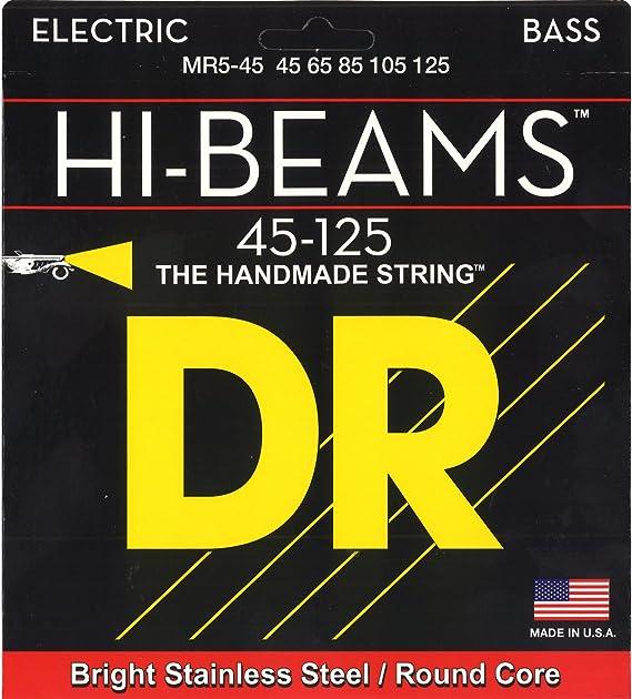 DR Strings Hi-Beam - Stainless Steel Round Core Medium 5 String 45-125