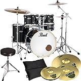 Pearl Export EXX725SZ/C31 Black + Sabian Becken Set + Hocker GRATIS!