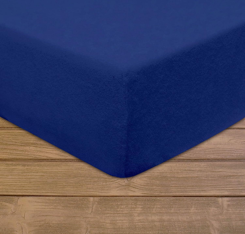 Sábana bajera Modhaus, de rizo, 70x 160 cm, congoma elástica para ajustarla a colchones de hasta 5cm de altura. Disponible en distintos colores