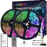 Gusodor Led Strip Lights 32.8 Feet Smart Led Lights for Bedroom Color Changing Led Light Strips Music Sync RGB Led Rope Light