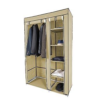 Harima Keep Deluxe Stoff Kleiderschrank 2 Turig Faltbar