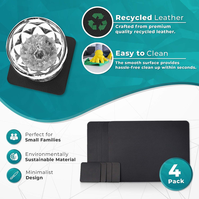 Platzdeckchen Upcycling Altpapier Papieruntersetzer 4er Set Untersetzer