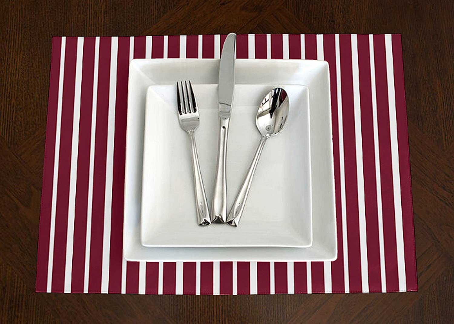 Kitchen & Table Linens A LuxeHome Red and White Stripe Modern ...