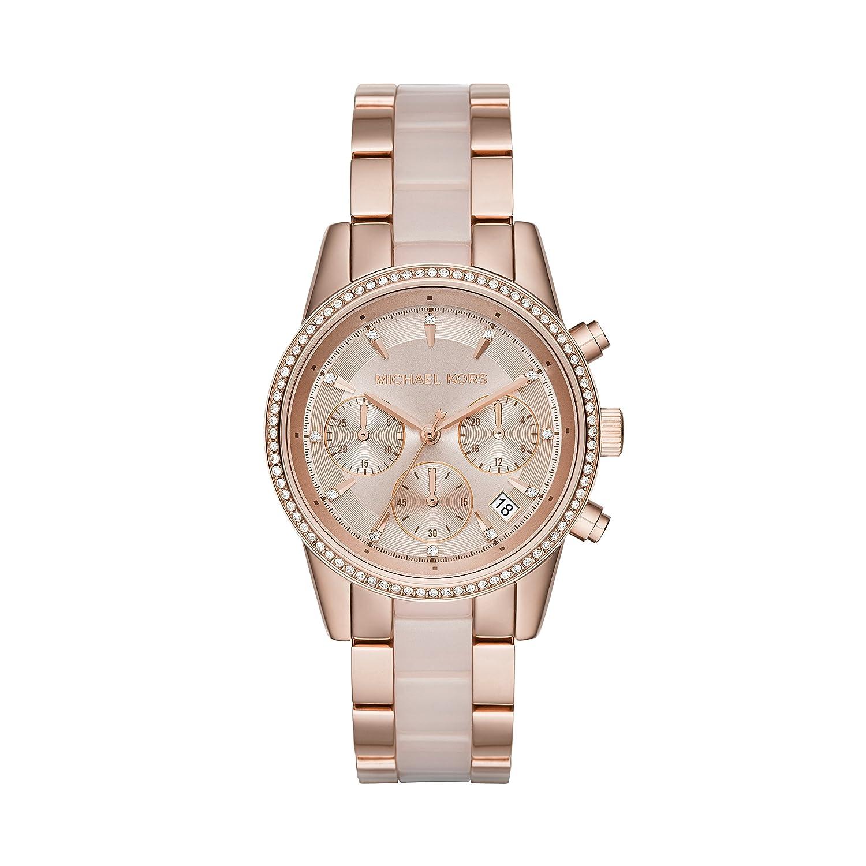 00cae35fb73 Amazon.com  Michael Kors Women s Ritz Rose Gold-Tone Watch MK6307  Michael  Kors  Watches