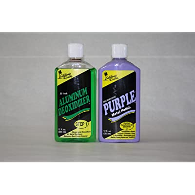 California Custom Products Purple Metal Polish/deoxidizer Combo: Automotive