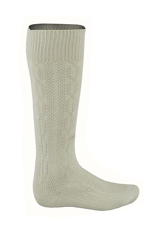 Mens Bavarian Oktoberfest/Causal Lederhosen Socks Pairs - White