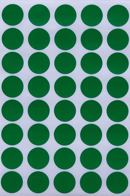 Royal Green Bollini Adesivi Rotondi Multiuso Colore Blu 19mm Etichette Colorate Scrivibili da 1,9 cm Confezione da 280 Pezzi