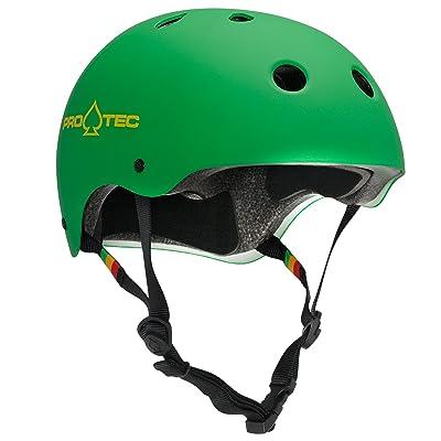 Pro-Tec Medium Matte Rasta Green Classic : Skate And Skateboarding Helmets : Sports & Outdoors