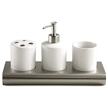 Charmant White Ceramic U0026 Steel French Style Hotel Bathroom Accessories