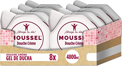 Moussel - Douche Crème - Gel de baño hidratante - 600 ml - [Pack de 8]: Amazon.es: Belleza