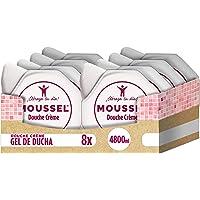 Moussel - Douche Crème - Gel de baño hidratante - 600 ml - [Pack de 8]