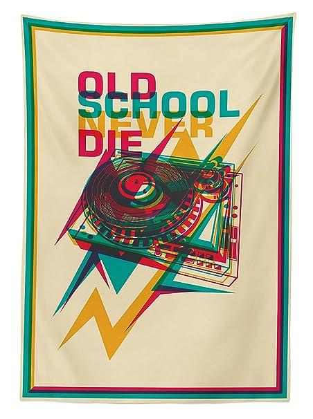 vipsung Vintage Decor Mantel Estilo Pop Art Old School Tocadiscos ...