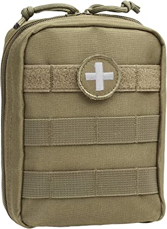 Orca Tactical MOLLE EMT Medical First Aid IFAK Utility Pouch (Bag Only) (Olive Drab Green)