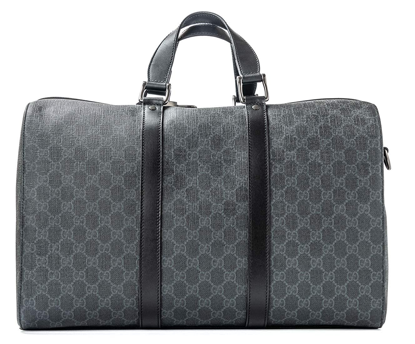 70b9cfe5c Amazon.com: Gucci Duffle Luggage GG Supreme Carry On Bag Black Signature GG  Leather New: Shoes