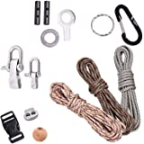 The Friendly Swede DIY Paracord Kit with 3 x Cords + 7 x Accessories to Make your Own Bracelets, Key-chains and Gadgets (Basic Instructions Included) - LIFETIME WARRANTY
