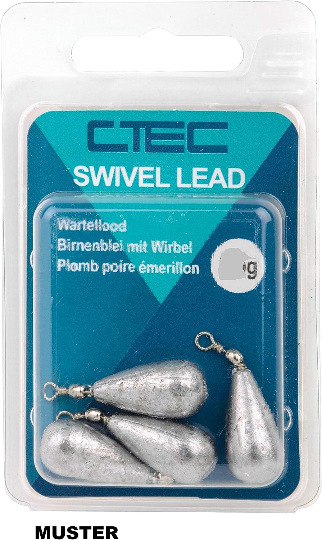 5 St/ück Birnenblei Blei zum Grundangeln von SPRO C-TEC Swivel Sinker Lead 10g