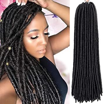 Amazoncom 6 Packs Faux Locs Crochet Hair Dreadlocs Stright