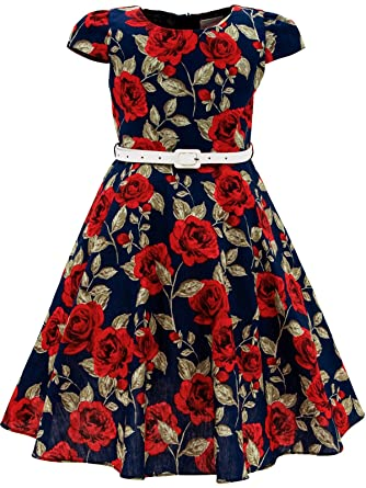 Amazon.com: Bonny Billy Girls Classy Vintage Floral Swing Kids ...
