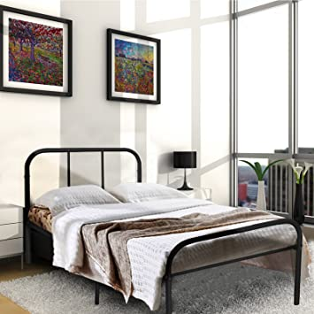 Amazon.com: Kingpex Metal Bed Frame Twin Size Black / 6 Legs ...