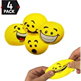 "2.2"" Emoji Stress Balls Stress Reliver, Stress Relief Toys For ADD / ADHD Stretch Ball Sensory Fidget Toy (4 Pack)"