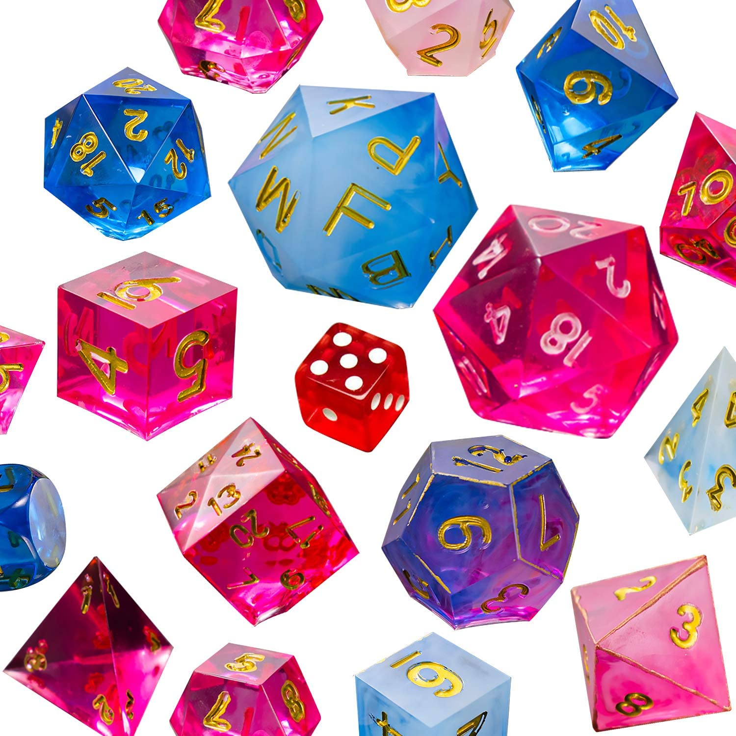 2 Part Mold Polyhedral Dice FULL SET