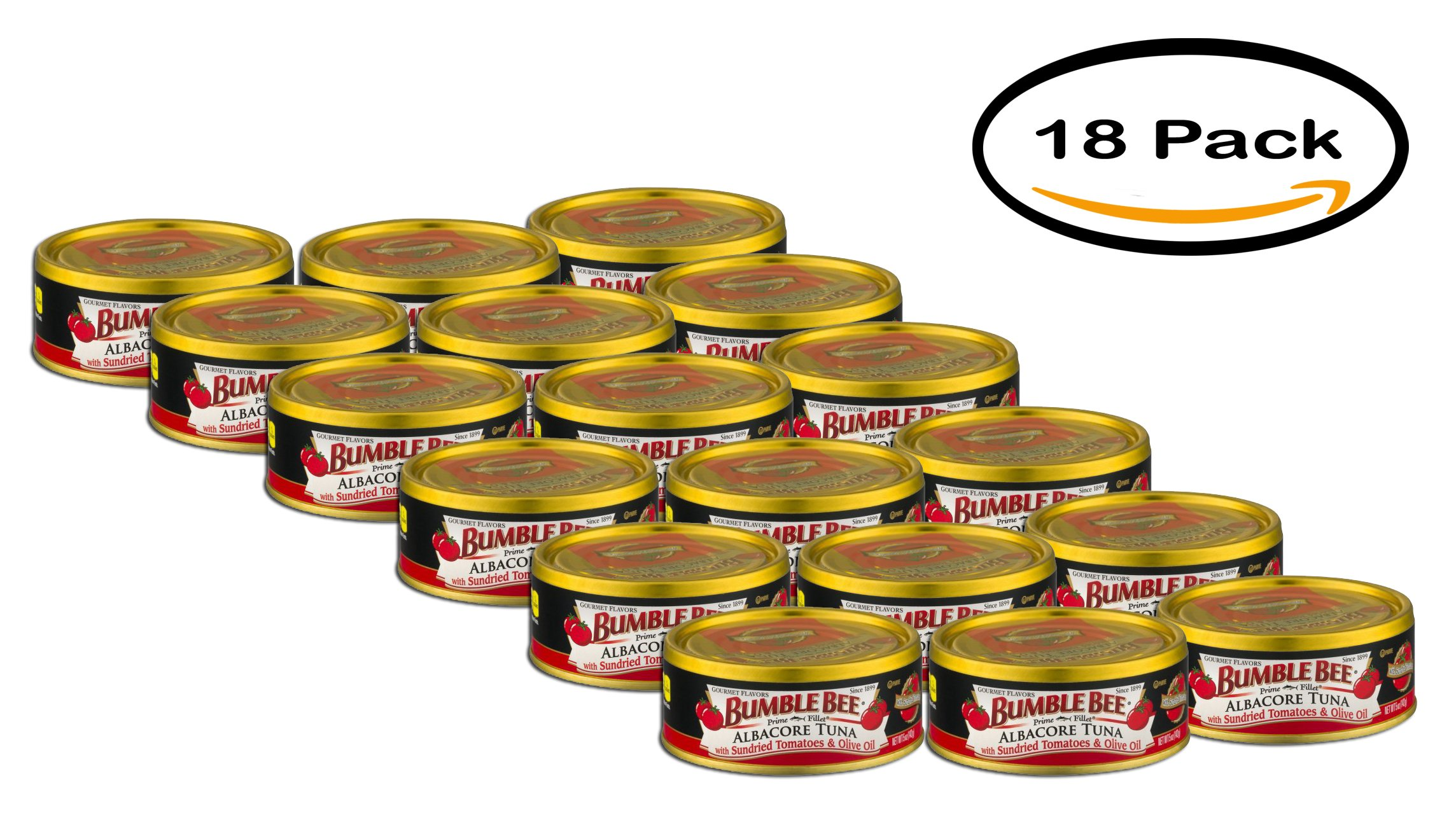 PACK OF 18 - Bumble Bee Albacore Tuna with Sundried Tomatoes & Olive Oil, 5.0 OZ by Bumble Bee